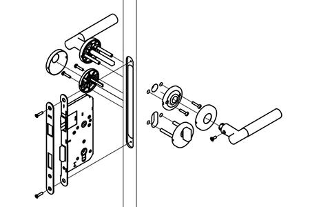 MG1613 Mortise Lever Lock